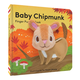 Baby Chipmunk Finger Puppet Book