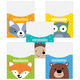 Library Pockets - Woodland Friends (Set of 10)