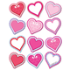 Die-Cut Decor Magnetic Frames Wipe-On/Wipe-Off-Valentine's Hearts