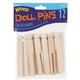 Doll Pins Natural Wood 3 3/4
