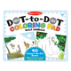 ABC 123 Dot-to-Dot Coloring Pad-Wild Animals