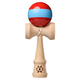 Tribute Kendama - Red with Light Blue Stripe