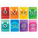 Mini Pocket Pal Journals - Monsters (Set/8)