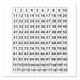 Low Tac 120 Number Grid Dry Erase Chart (24