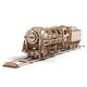 Ugears 3D Wooden Mechanical Model Locomotive & Tender