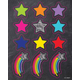 Stars and Starbursts Shape Stickers