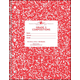 Grade Three Composition Notebook - Red Marble Cover