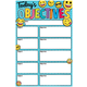 Write & Wipe Magnetic Chart - Emoji Today's Objectives