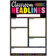 Write & Wipe Magnetic Chart - Neon Black Classroom Headlines