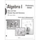 Algebra I Quizzes/Tsts A/K Sunrise Ed Prelim