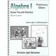 Algebra I Teacher's Guide/Solution Key with answers Sunrise Edition, Preliminary