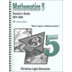 Mathematics Teacher's Guide 501-505 Sunrise Edition