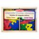 Magnetic Wooden Letters (52 pcs)