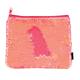 Coral Iridescent / Matte Magic Sequin Zip Pouch