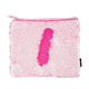 Iridescent / Bright Pink Magic Sequin Zip Pouch