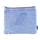 Periwinkle Iridescent / Matte Magic Sequin Zip Pouch