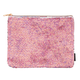 Pink Champagne / Iridescent Magic Sequin Chunky Zip Pouch