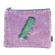Purple Holographic / Seafoam Magic Sequin Zip Pouch