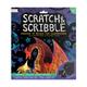Fantastic Dragons Scratch & Scribble Art Kit: 10 piece set