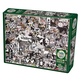 Black and White: Animals Collage Jigsaw Puzzle (1000 piece)