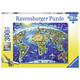 World Landmarks Map Puzzle (300 pieces)
