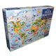 Atlas Book and Jigsaw Puzzle - The World (300 pieces) (Usborne)