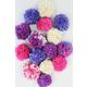 Pom Pom Garland Kit - Purples