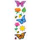 Butterflies & Flowers Stickers - 1 package (3 sheets)