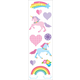 Unicorn Love Stickers - 1 package (3 sheets)