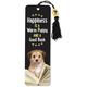 Happiness is a Warm Puppy and a Good Book Beaded Bookmark