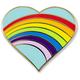 Rainbow Heart Enamel Pin