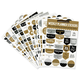 Weekly Planner Stickers - Black & Gold
