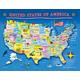 U.S.A. Map Puzzle (60 pieces)