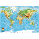 World Map Physical Smart Poly Learning Mat