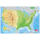 U.S. Map Physical Smart Poly Learning Mat