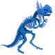 Libby the Dilophosaurus 3D Puzzle - Blue