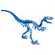Moe the Velociraptor 3D Puzzle - Blue