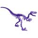 Moe the Velociraptor 3D Puzzle - Purple