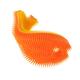 Silicone Fish Bath Scrub - Orange/Mango