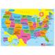 U.S. Map Basic Smart Poly Learning Mat