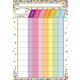 Confetti Chore Chart Smart Poly Chart Write-On/Wipe-Off