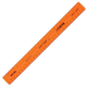 Safe-T Ruler, Orange, Translucent (12