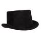Black Faux Suede Top Hat