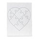Blank Heart Shaped Puzzles with Envelopes (6