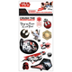 Star Wars 8 Standard Stickers (4 Sheet)
