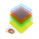 Transparent Rainbow Colored Geoboards 6