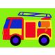 Fire Truck Crepe Rubber Puzzle (21 pcs.)