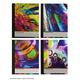 Color Slicks Foil Composition Notebook