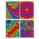 Color Slicks II 2 Pocket Portfolio