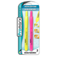 Glowline Retractable Chisel Tip Yellow and Pink Highlighters (2 Pack)